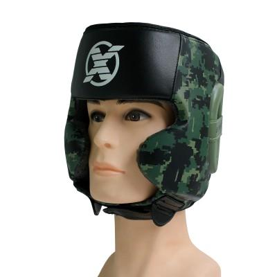 Шлем для бокса FIGHT EXPERT MILITARY GREEN с защитой щек