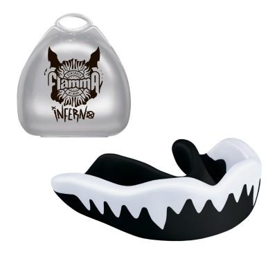 Защита рта (капа) FLAMMA-Infern white black с футляром
