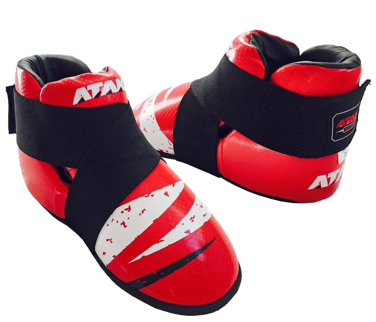 Защита стопы (футы) для тхэквондо ИТФ  ГТФ и кикбоксинга АТАКА Carbon