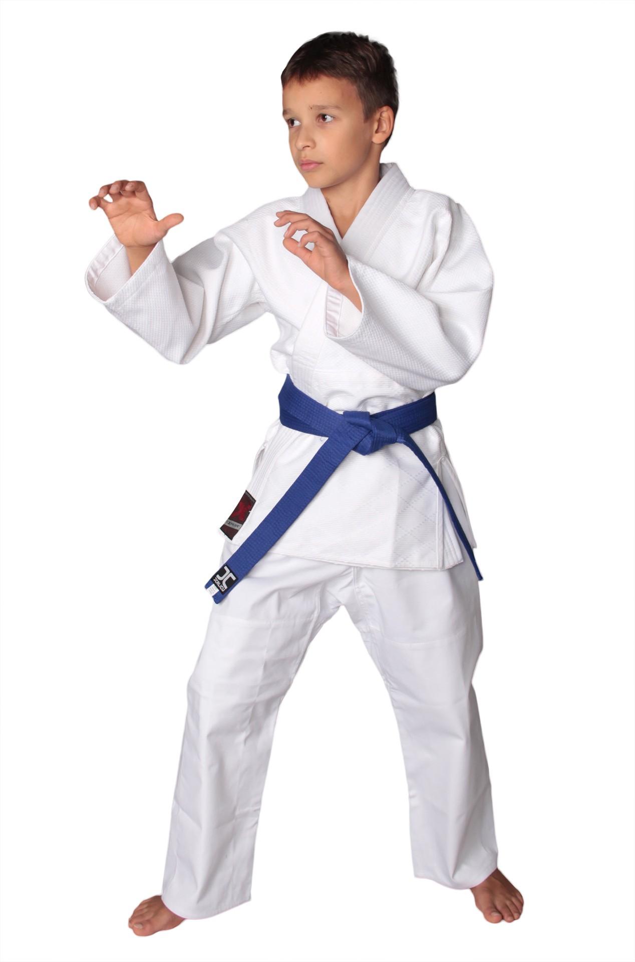 Униформа дзюдо FIGHT EXPERT белая, в комплекте с белым поясом