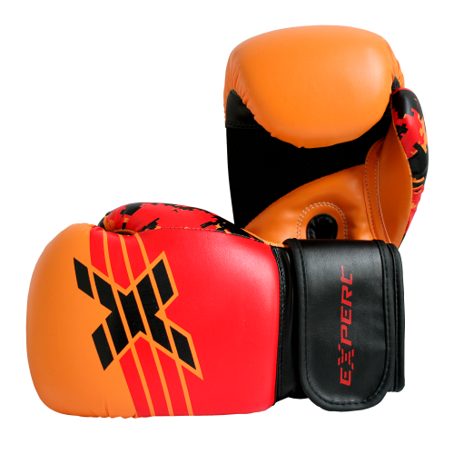 Перчатки для бокса FIGHT EXPERT MILITARY RED 12 унц
