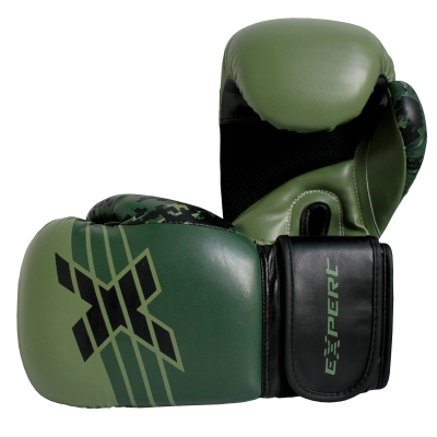 Перчатки для бокса FIGHT EXPERT MILITARY GREEN 12 унц