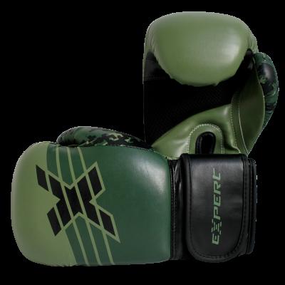 Перчатки для бокса FIGHT EXPERT MILITARY GREEN 10 унц