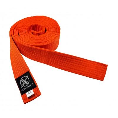 Пояс для единоборств оранжевый FIGHT EXPERT