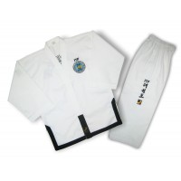 Униформа для тхэквондо ITF (добок) Black belt , SASUNG