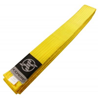 Пояс для единоборств желтый FIGHT EXPERT